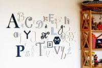 "Alphabet set ""Hippy Happy"""