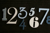 "Number set  ""Hippy Happy"""