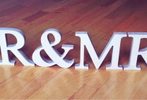 Free-standing letters Mr&Mrs, wedding decoration