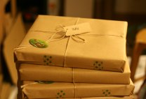 Gift wrapping {photo by: www.colourfulletters.com]