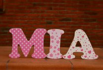 Free-standing letters, MIA birthday present
