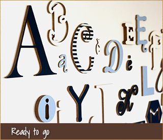 Ready-to-go wooden words